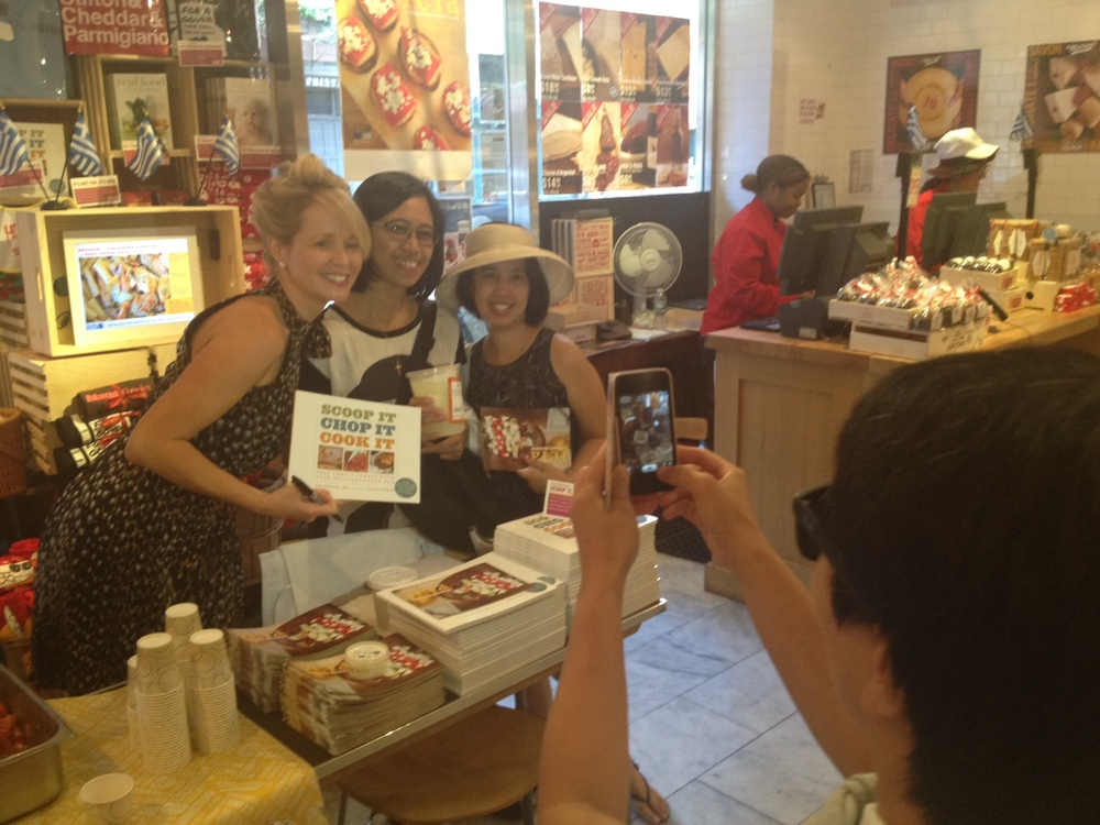 Foods of NY Tours has long had Murray's on its stop of historic West Village classic specialty food shops. Maya and Ana reside in NJ taking guests from the Philippines to sight see. They packed up on recipe ingredients excited to make a celebratory Sunday night feast.