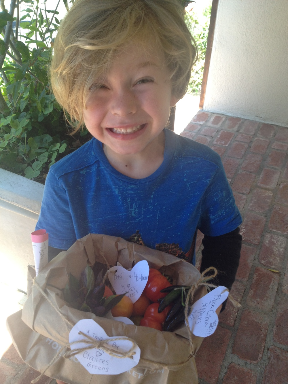 "Yay! Nothing like coming home from a playdate to a bag of treats at the doorstep. ""Mama, may I cook with you?"" Um, YES!"