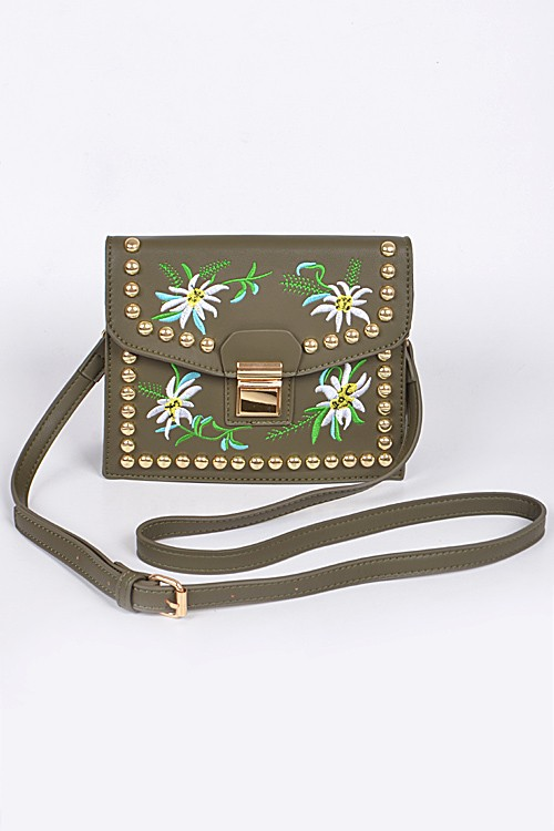 Embroidered cross body $54