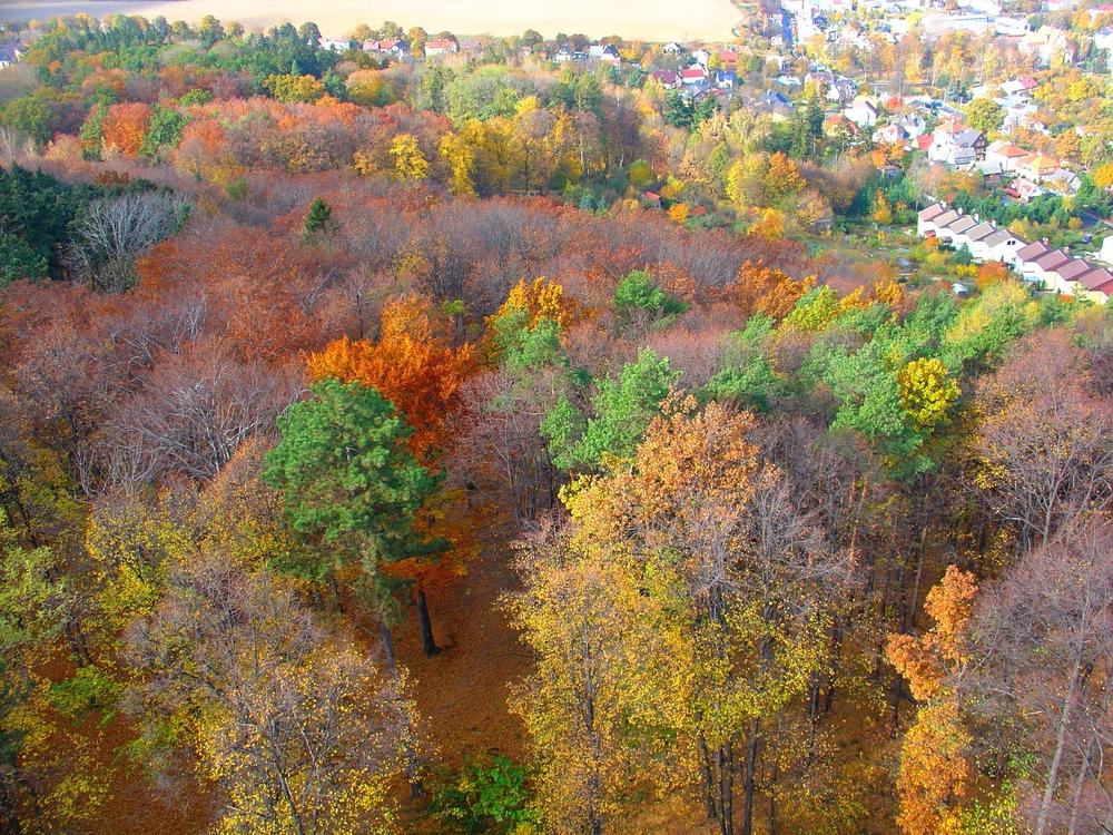 Podzimni Krnov pohled ze Cvilinske rozhledny