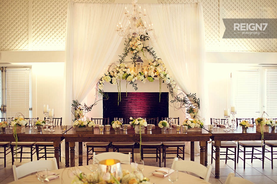 Wooden Head Table ~ Tuck tables event decor