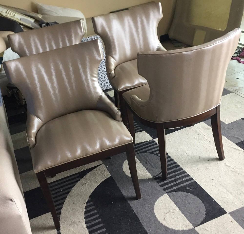 Designed and upholstered chairs for a dental office