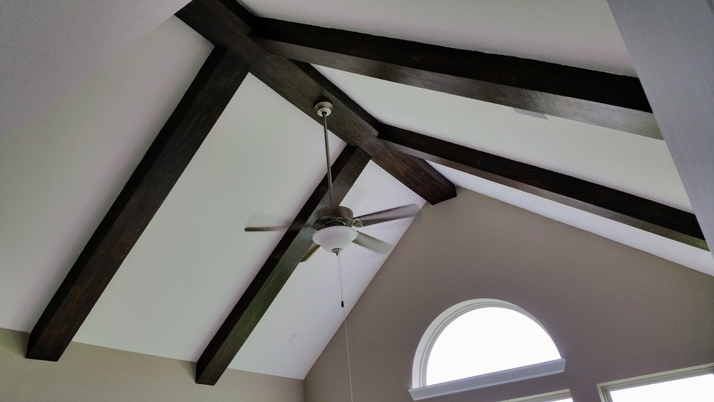 Faux painted beams