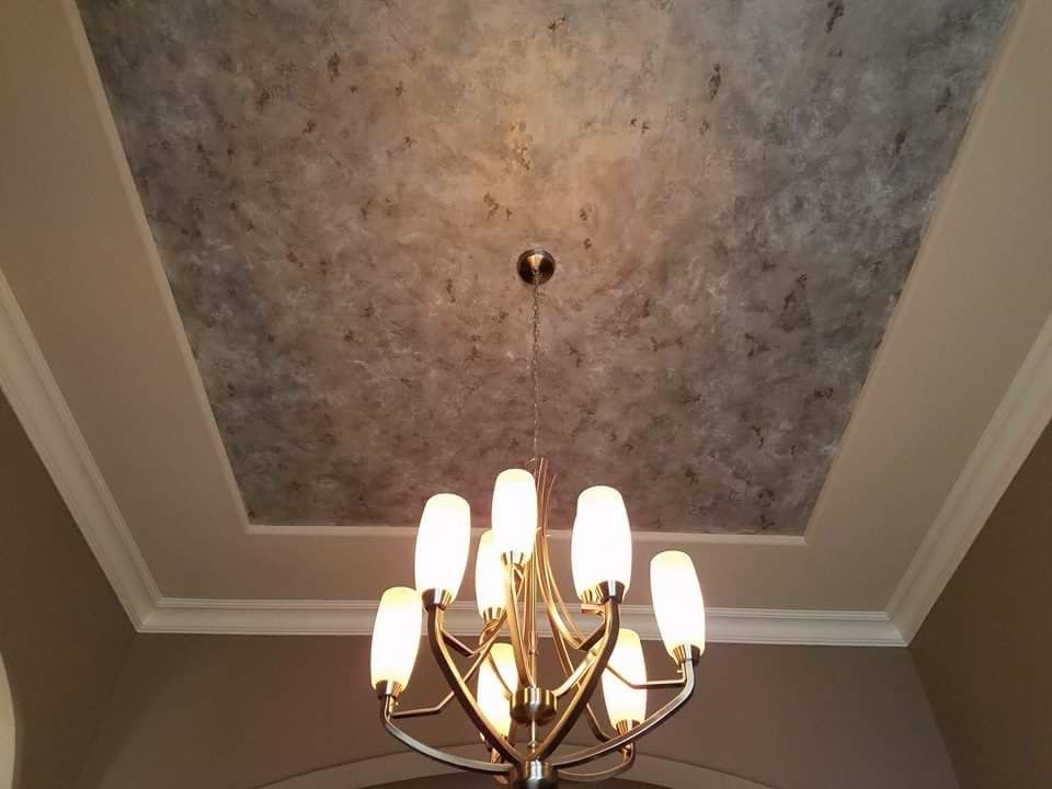 Platinum Faux on the ceiling
