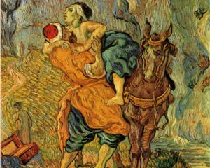 Vincent van Gogh The Good Samaritan, after Delacroix (1890)