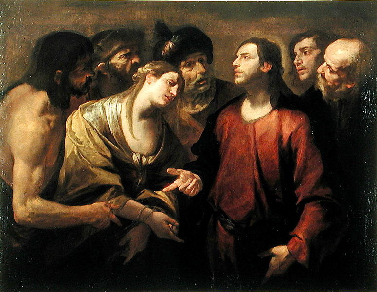 Gioacchino Assereto  Christ and the Woman taken in Adultery