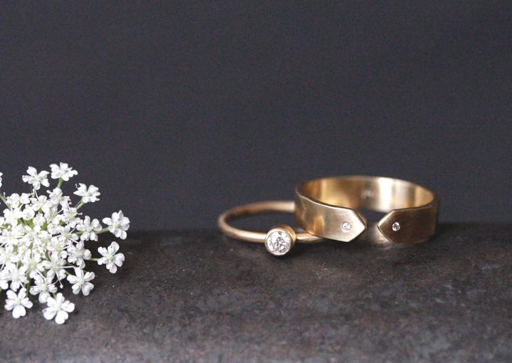 Rebecca Mir Grady 14k Diamond Rings