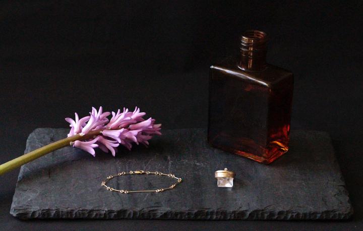 Rebecca Mir Grady 14k Gold Bracelet and Rings