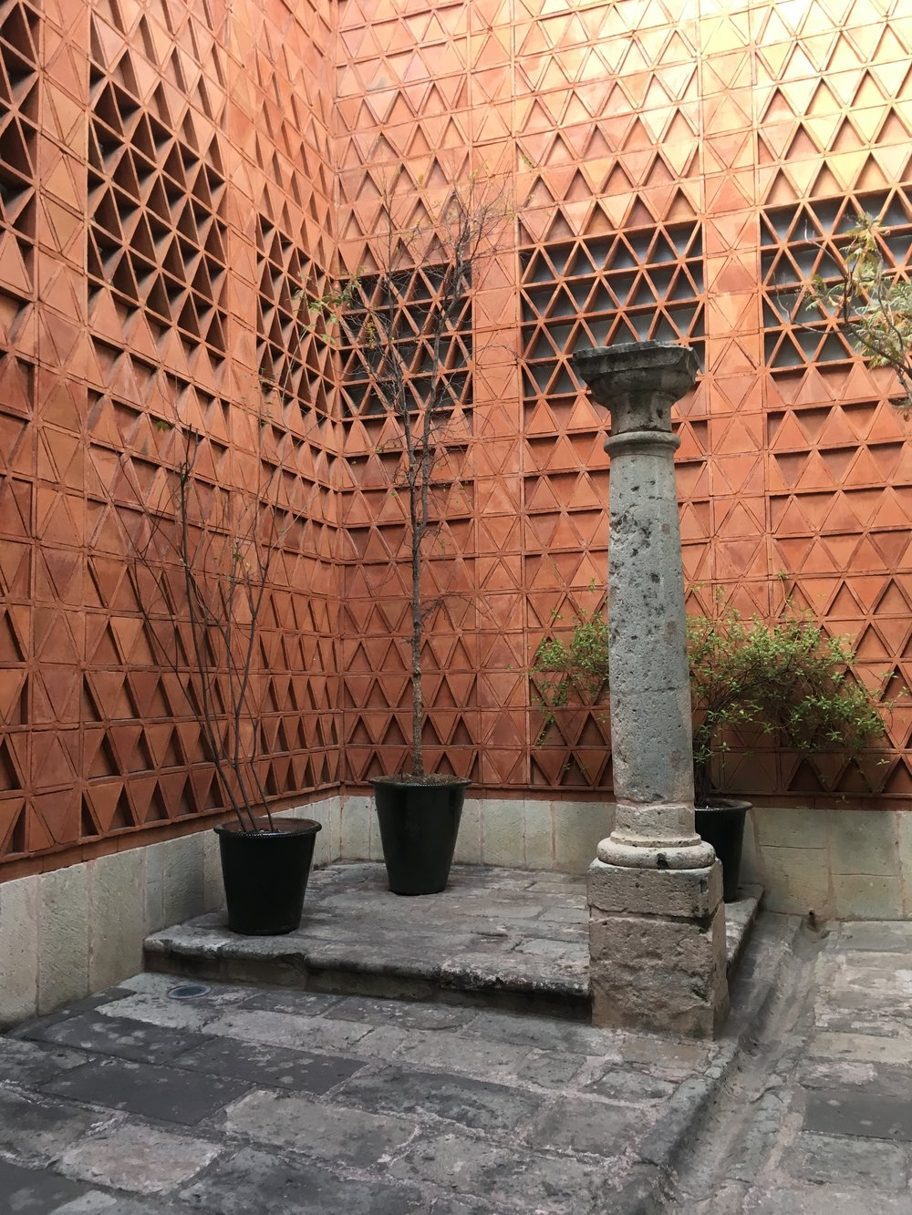 the beautiful courtyard at the Museo Textil de Oaxaca