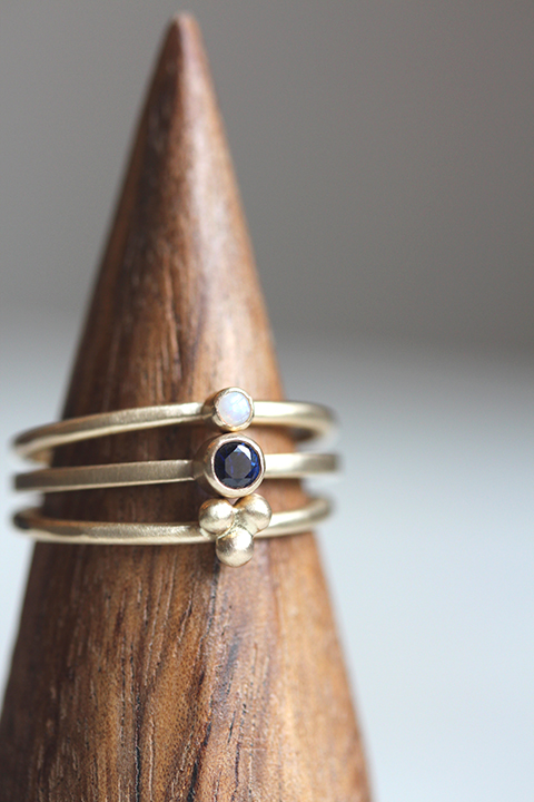 Custom+stacking+ring+set+in+14k+yellow+gold+with+opal+and+sapphire.jpeg