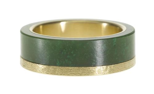 Todd Reed Gold + Jade Ring