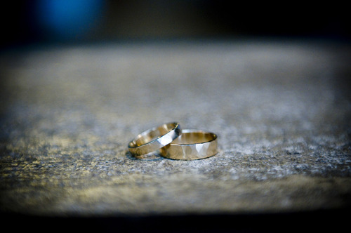 hammered wedding rings by rebecca mir grady