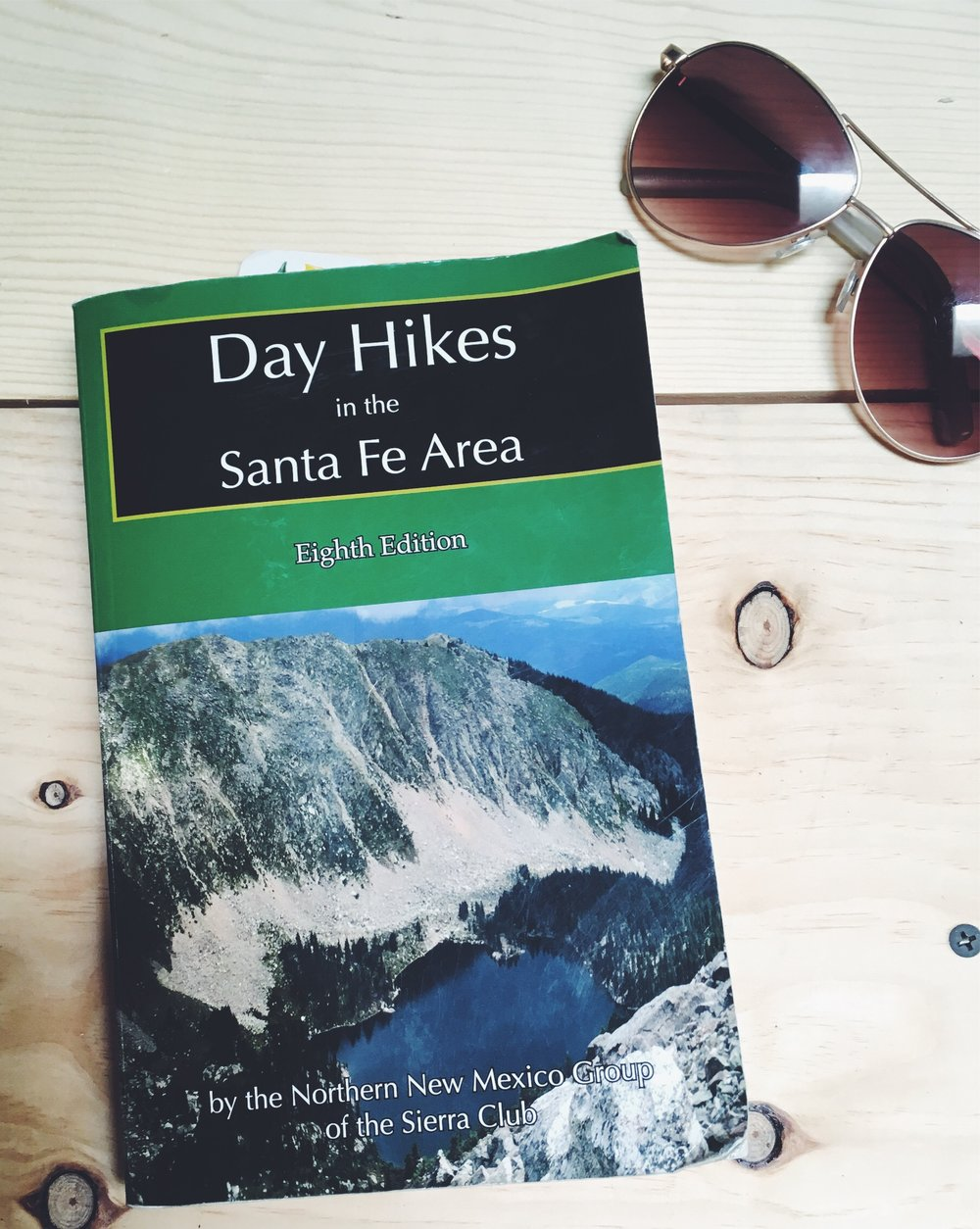 "If you're looking for hike ideas in the area - definitely worth reading this Santa Fe trail guide - they have the best descriptions too. For instance - the last hike we did to Trampas Lakes includes instructions to ""be sure to notice the old log flume on the right, still carrying water from the higher elevations over the ravine to the irrigation ditches of the village below."" This book is chock full of caring notes like these, pointing out especially beautiful trees, and interesting landmarks."