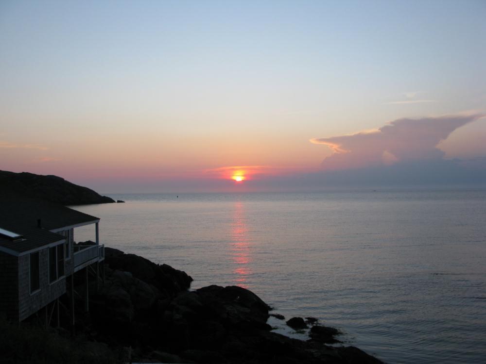 sunset on Monhegan Island