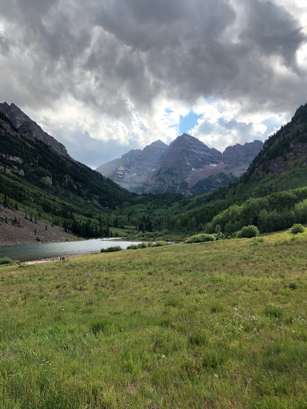 This is the view of Maroon Bells that gets photographed the most! This shot was taken from the walking path just off of the main trailhead where the shuttle drops visitors off. I couldn't not take one as well, it's beautiful.