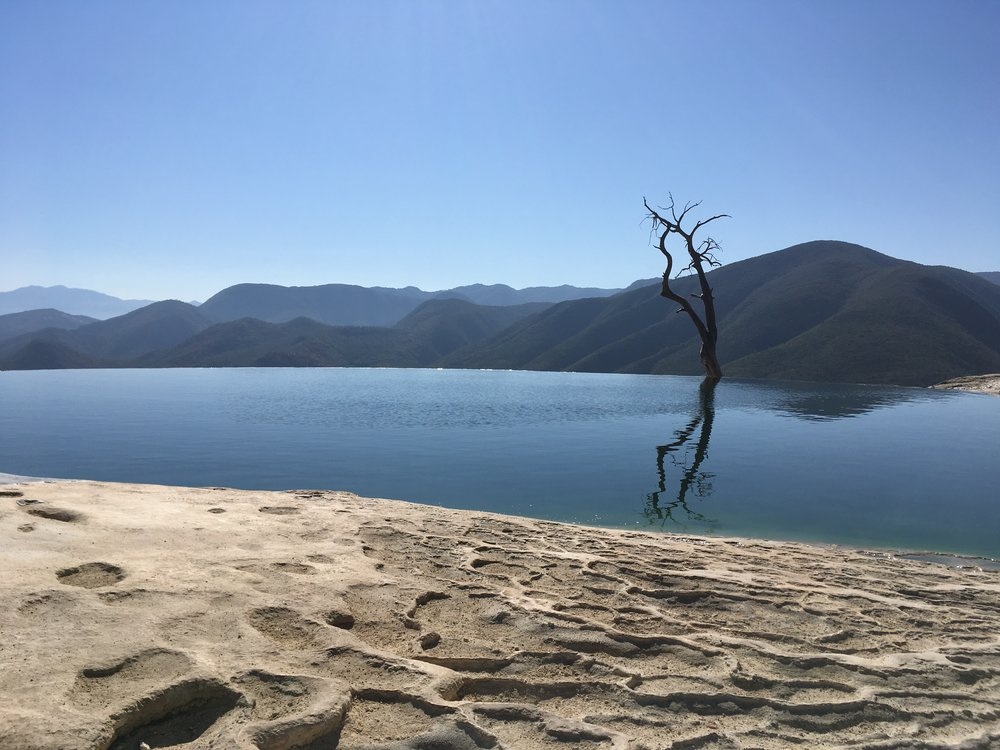 Hierve el Agua in the early morning