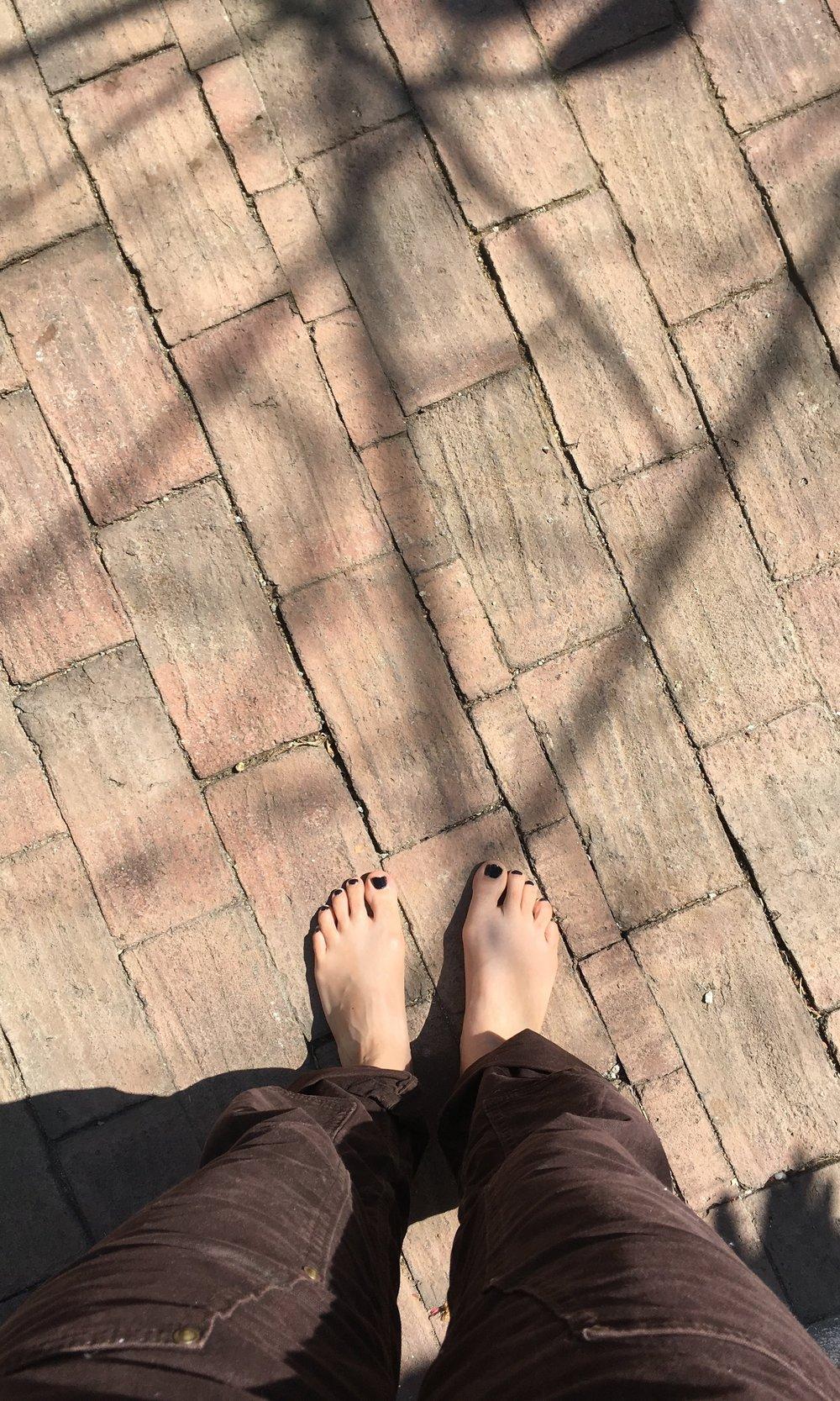 working on my feet tan