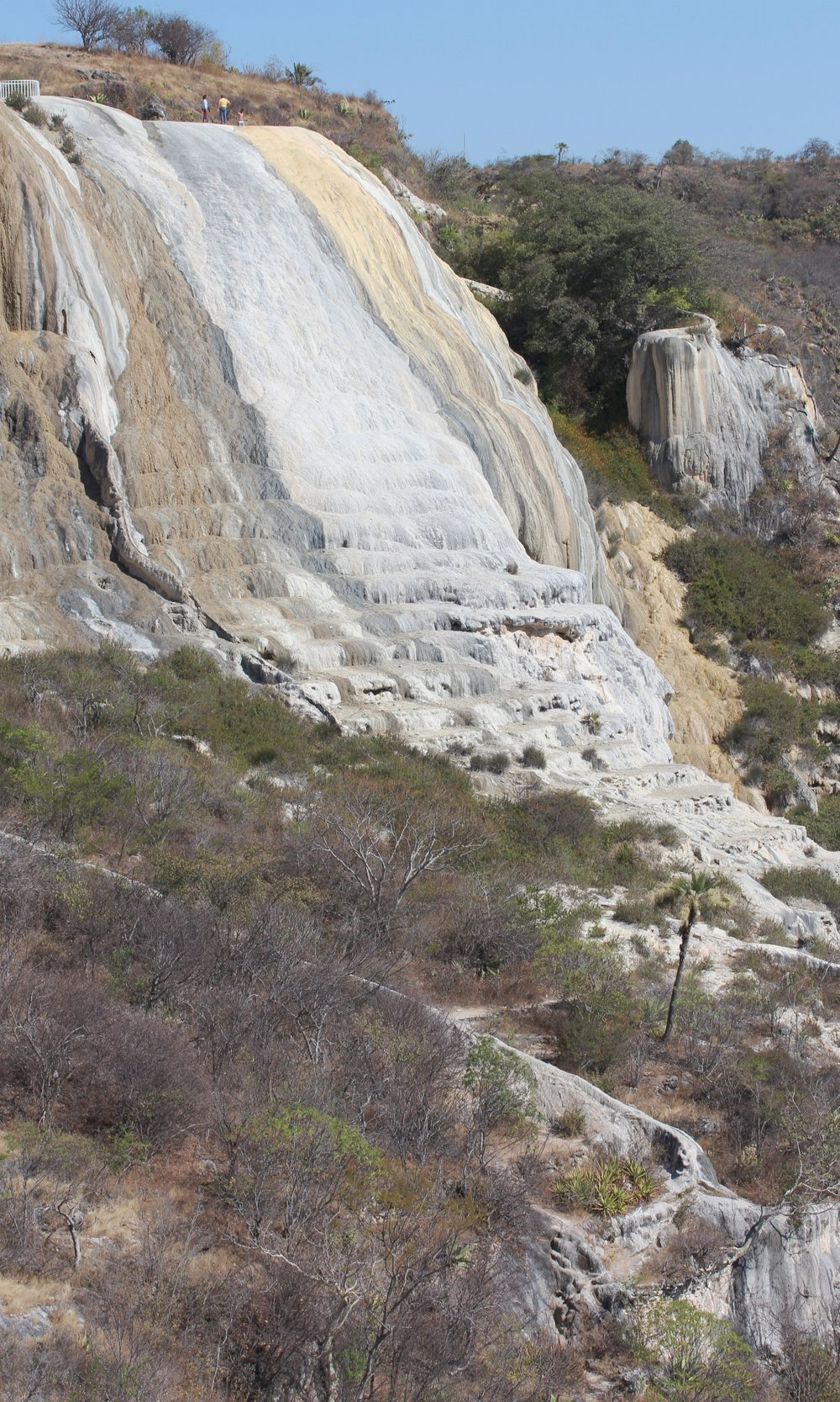 """the """"waterfall"""" at Hierve el Agua"""