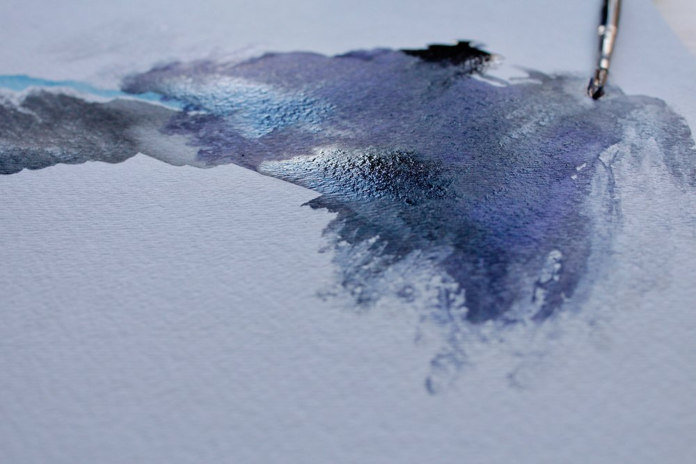 winter watercolors