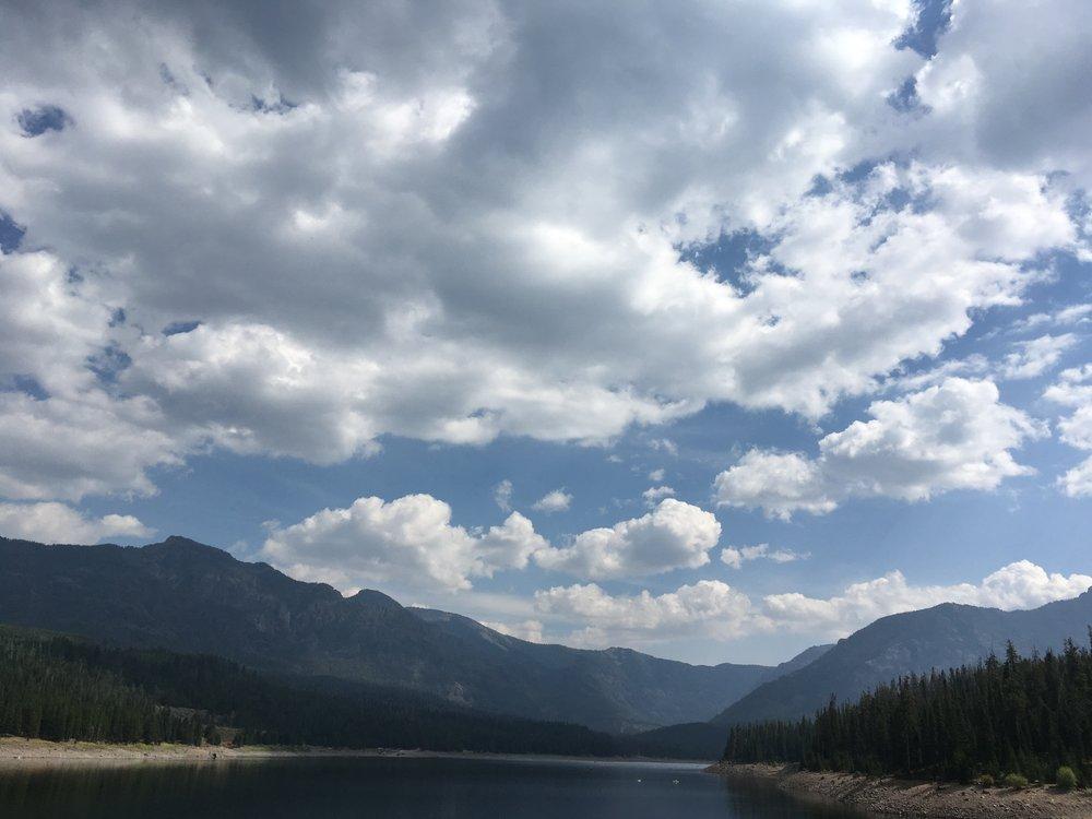Hyalite Reservoir in Montana