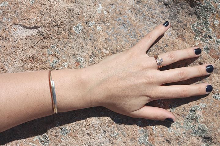 the  Absaroka  cuff and  Alexandrine  and  Diamond Highsmith  rings.