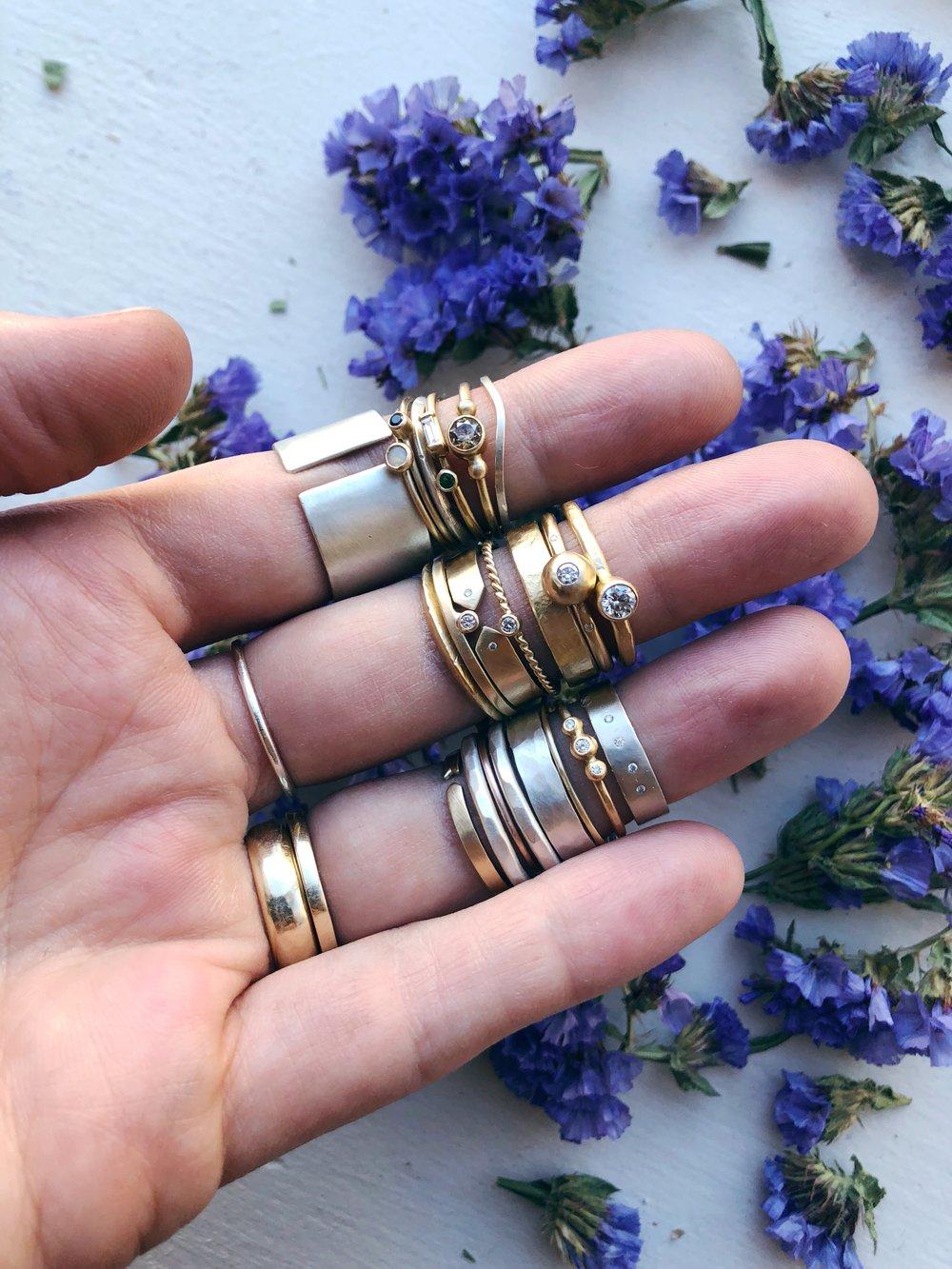 ring stacking - Rebecca mir Grady
