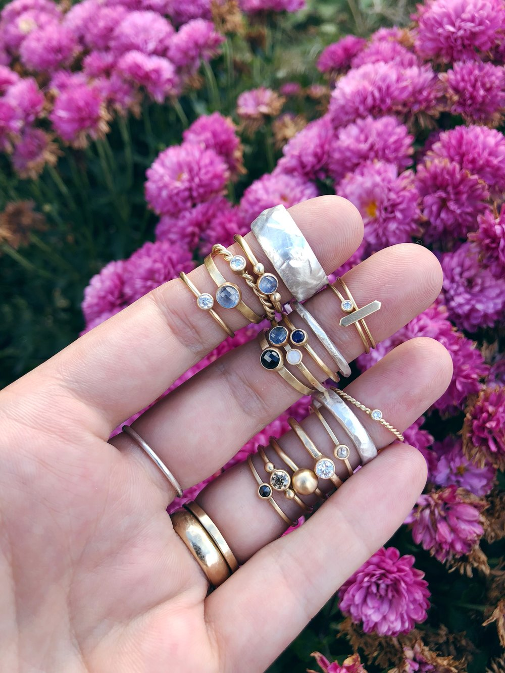 October: The best of trunk shows and  all the stacking rings  at Cupcake Clothing in Santa Fe