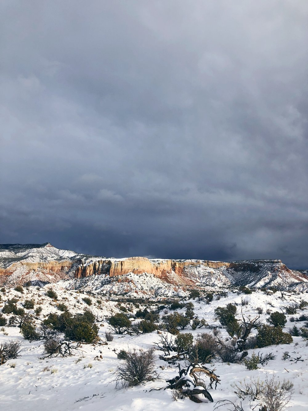December: The  most magical of snowstorms  at Ghost Ranch