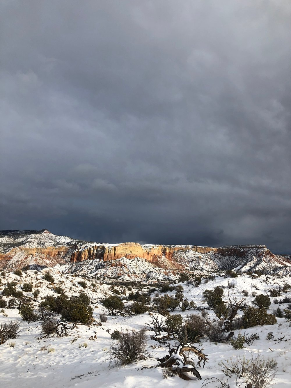 Calm in the storm at Ghost Ranch