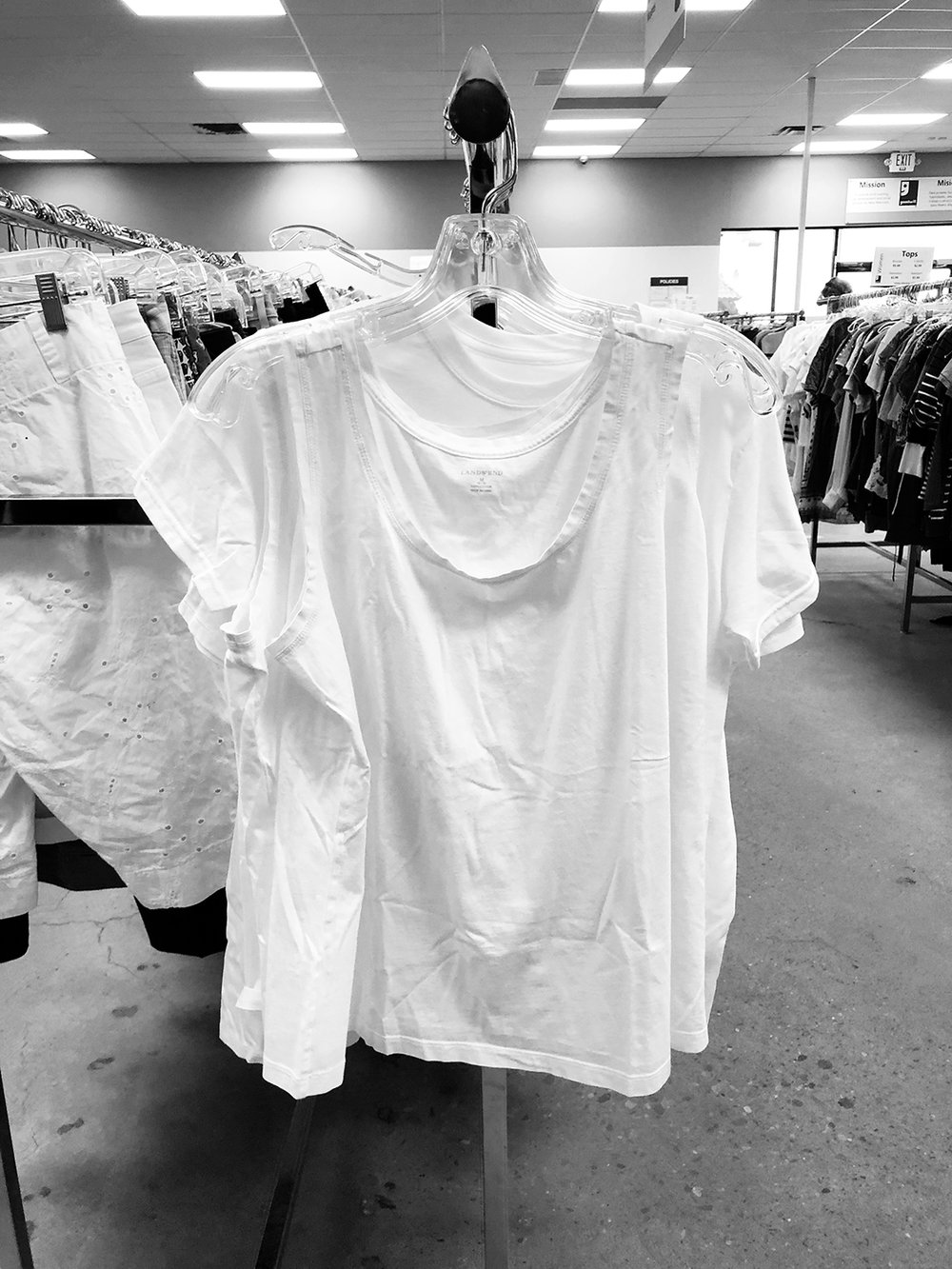 t shirt shopping at the goodwill