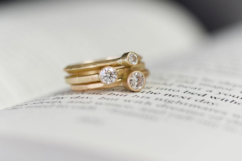 Diamond Ridge ,  Diamond Breakwater  and  Diamond Mitla  rings