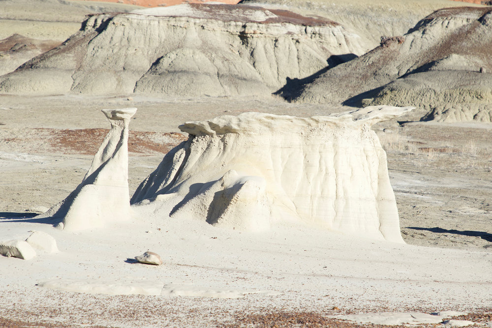 wind carved rocks in the Bisti De Na Zin wilderness area