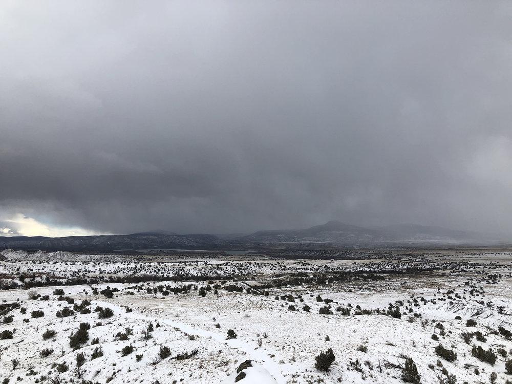 cerro pedernal in a storm