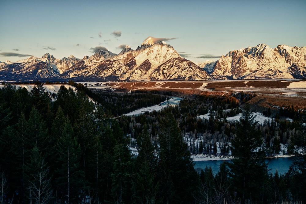 Mt. Teton, Grand Teton Nation Park at sunrise