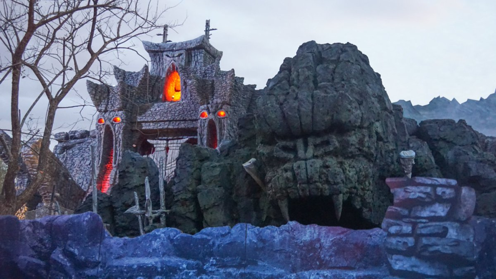 Lighting test at Reign of Kong (taken by @Attractions - follow them on Twitter!)