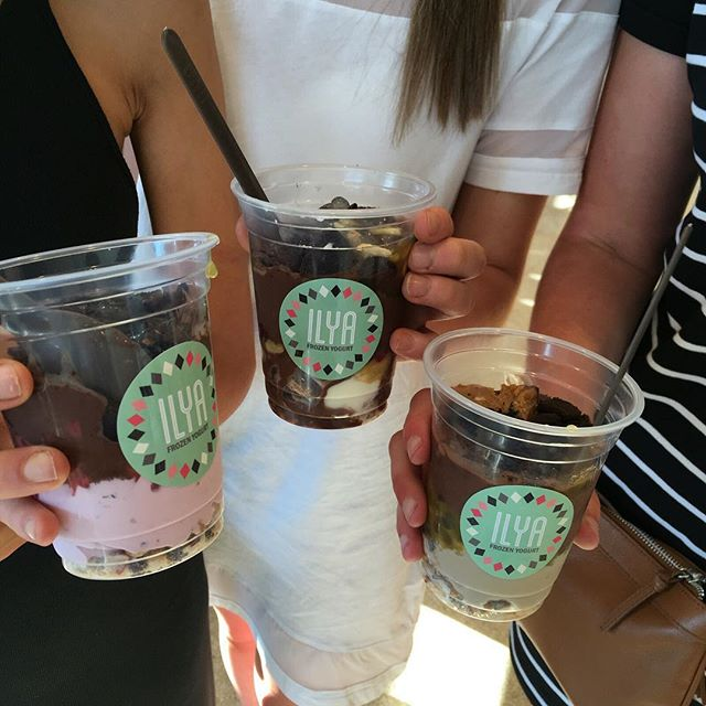 Parfait your way These girls sure know how to fill up a yummy cup!  #ilyafroyo #melbournemade #froyo #nomnom #parfait #foodie #foodporn #dessert #lowsugar #organic #lowfat #cleaneating #healthy
