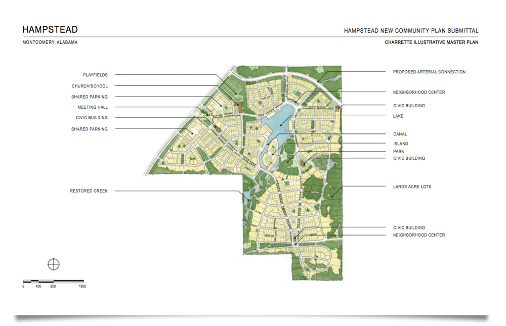 The Hampstead Master Plan from 2005 ( for illustrative purposes only )