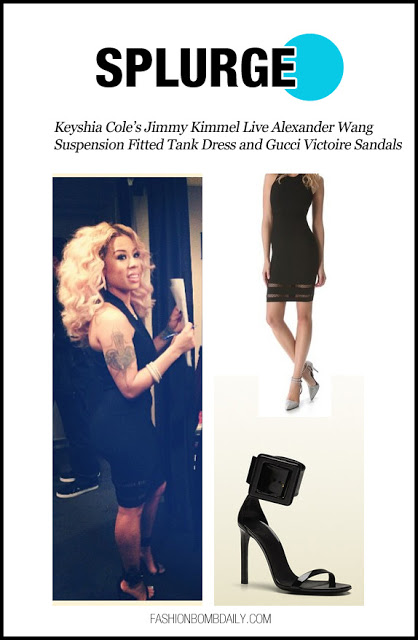 splurge-0319-Keyshia-Cole%E2%80%99s-Jimmy-Kimmel-Live-Alexander-Wang-Suspension-Fitted-Tank-Dress-and-Gucci-Victoire-Sandals-.jpg
