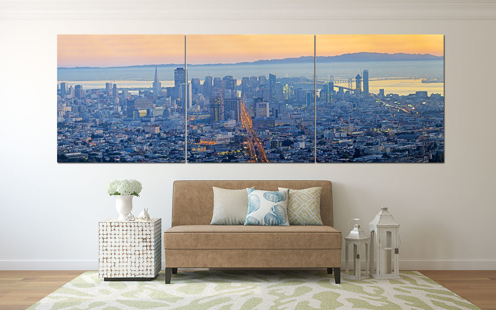 Market Street from Twin Peaks, San Francisco Wall Decor