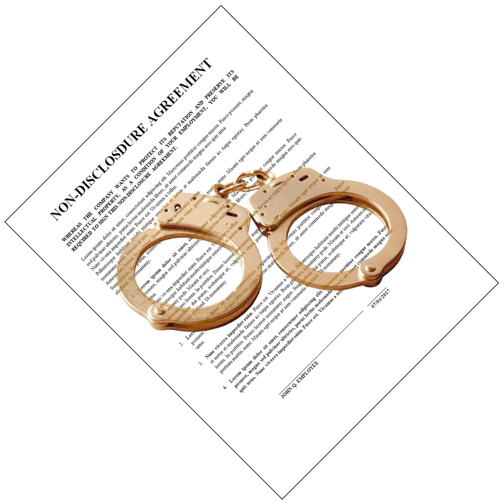 Am I Next? Non-Disclosure Agreement Handcuffs