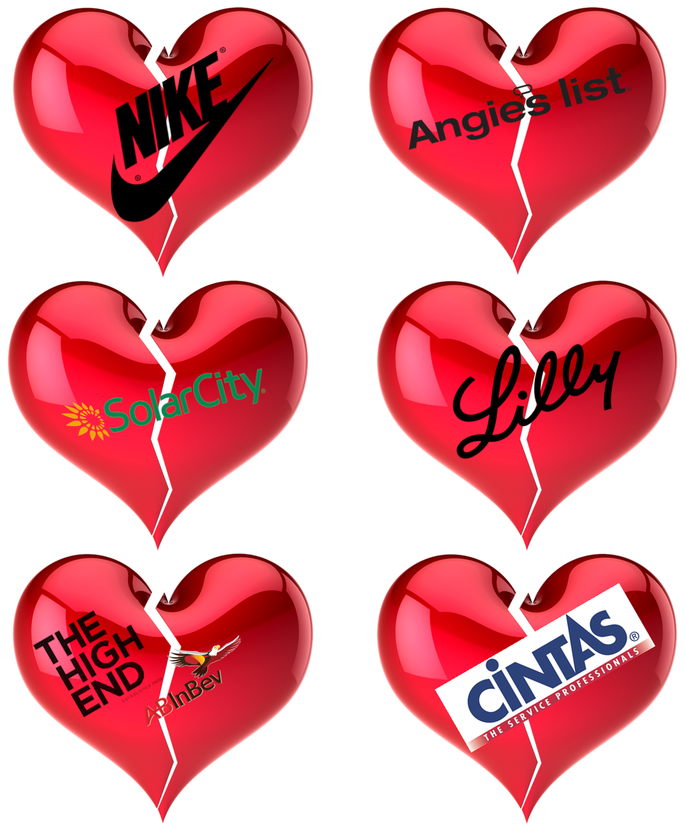 Am I Next? No love at Nike, Cintas, Anheuser-Busch, Angie's List, Lilly, SolarCity Lay Offs