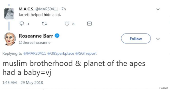 Am I Next? Roseanne Barr's allegedly racist tweet about Valerie Jarrett