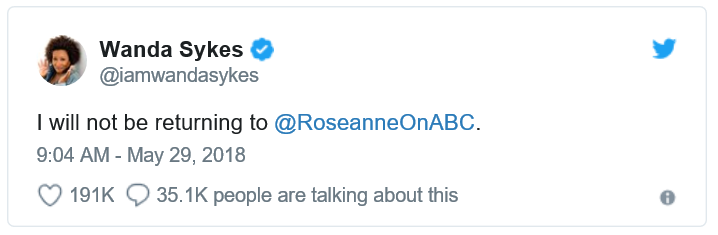 Am I Next? Comic Wanda Sykes on Roseanne Barr's tweet.
