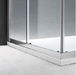 PROFILI MINIMAL - I profili in alluminio Brill o Bianco Perla personalizzano la doccia.