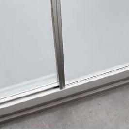 PROFILO VERTICALE - I profili in finitura satin o bianco perla completano il bordo del cristallo.