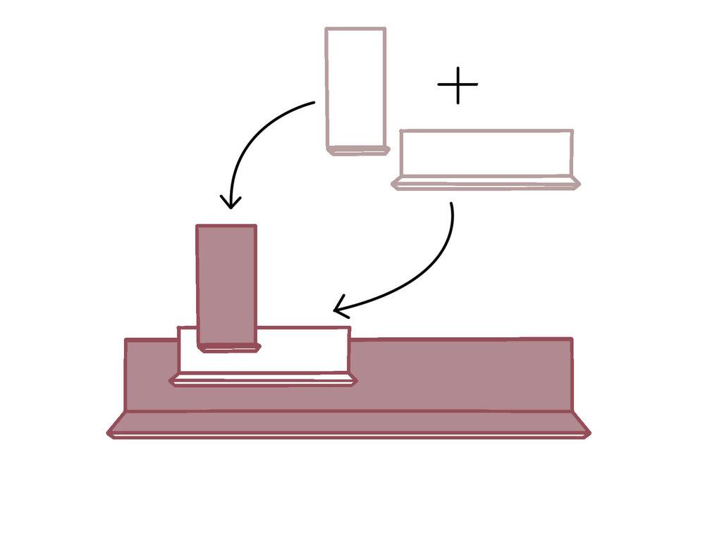 1. Aggiungi gli elementi - Scegli le mensole che preferisci, abbinando dimensioni e finiture diverse per creare il tuo stile. Alte, basse, larghe, strette, in legno, gres o laccate…c'è solo l'imbarazzo della scelta!