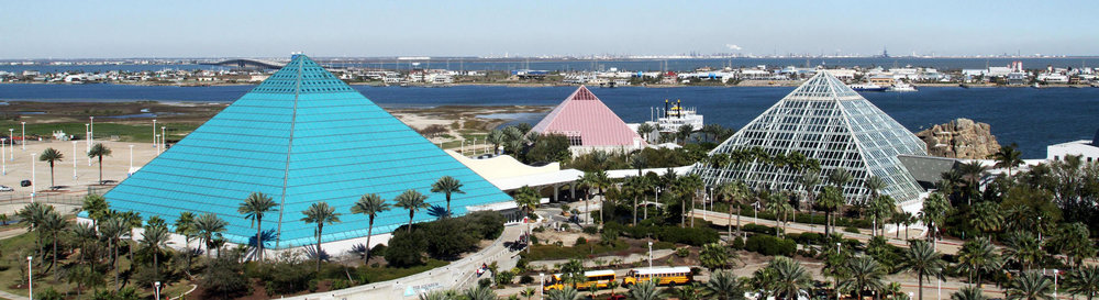 REKHA Engineering did the first ever, original survey of the Pyramids at Moody Gardens in Galveston, Texas!