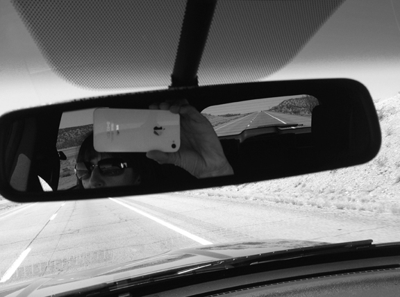 Self Portrait at 70 mph, New Mexico
