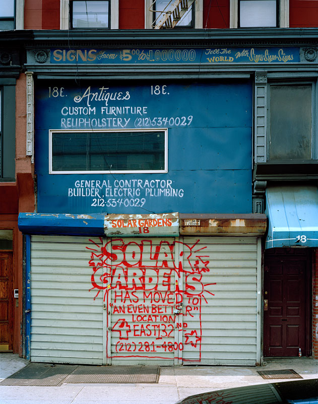 "3.  ""Solar Gardens Has Moved To An Even Better Location"" disappeared storefront, 2008"