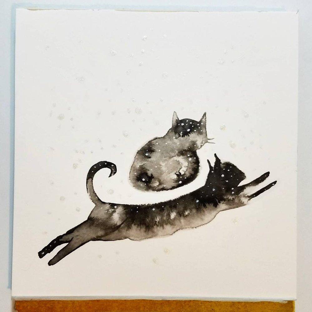 Inktober 1: cats